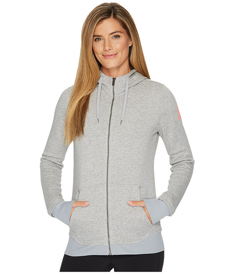Imbracaminte Femei Reebok Fleece Full Zip Hoodie Medium Heather Grey