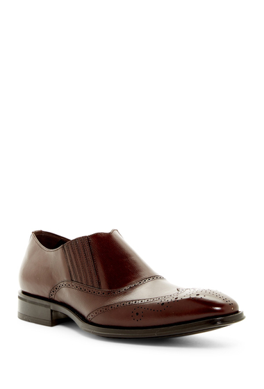 Incaltaminte Barbati Mezlan Wingtip Slip-On Shoe DARKBROWN
