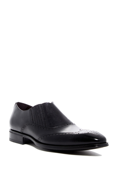 Incaltaminte Barbati Mezlan Wingtip Slip-On Shoe BLACK