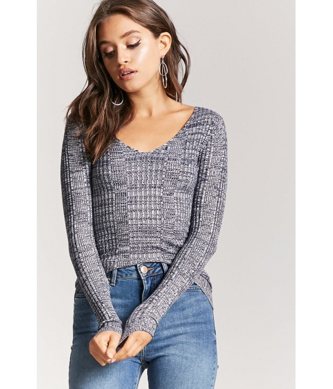 Imbracaminte Femei Forever21 Marled Ribbed Sweater NAVYIVORY
