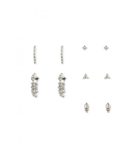 Bijuterii Femei Forever21 Rhinestone Earring Set SILVERCLEAR