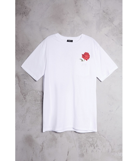 Imbracaminte Barbati Forever21 Rose Pocket Tee WHITERED