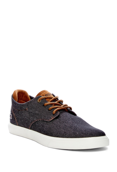 Incaltaminte Barbati Lacoste Espere Canvas Sneaker BLACK-DARK BROWN