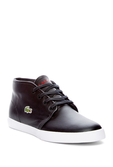 Incaltaminte Barbati Lacoste Asparta 317 Leather Sneaker BLACK-WHITE