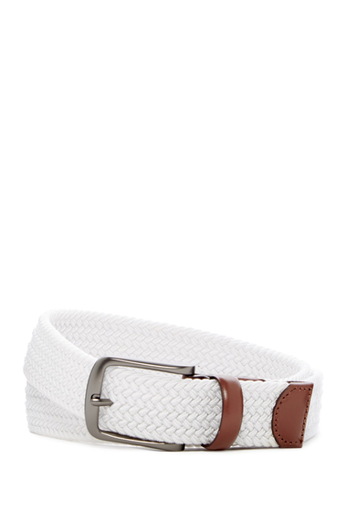 Accesorii Barbati Original Penguin Multi Stretch Woven Belt WHITE