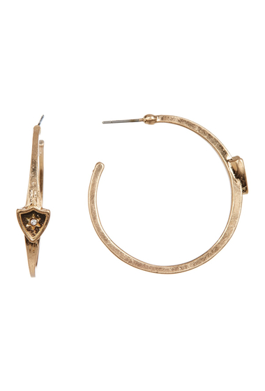 Bijuterii Femei Melrose and Market 32mm Shield Hoop Earrings GOLD