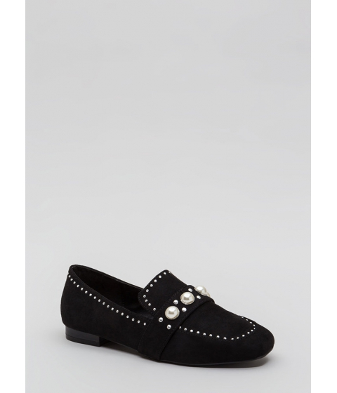 Incaltaminte Femei CheapChic Pearl Interrupted Studded Loafer Flats Black