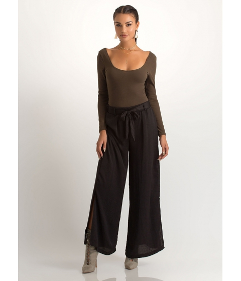 Imbracaminte Femei CheapChic Go With The Flow Tied Palazzo Pants Black