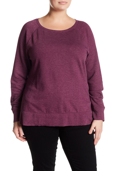 Imbracaminte Femei 14th Union Ruffled Pullover Plus Size PURPLE DARK HEATHER