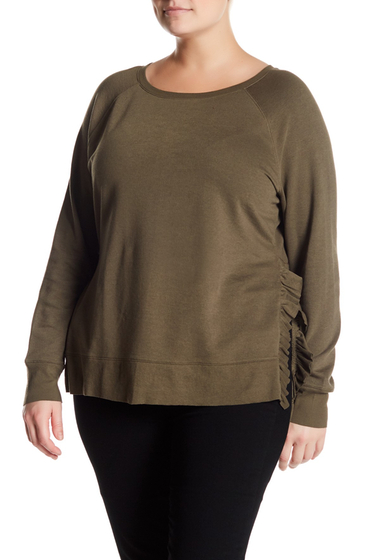 Imbracaminte Femei 14th Union Ruffled Pullover Plus Size OLIVE TARMAC