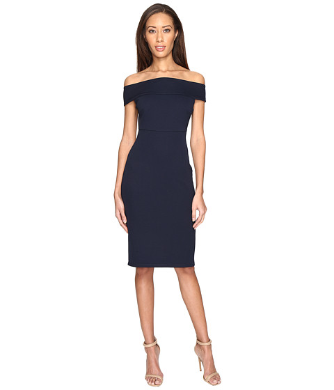 Imbracaminte Femei Adrianna Papell Off Shoulder Color Block Fitted Dress Blue Moon