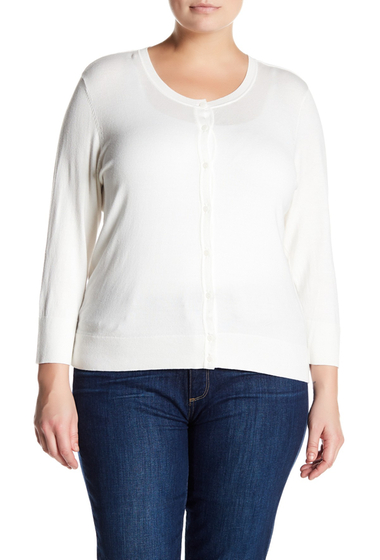 Imbracaminte Femei SUSINA Button-Down Knit Cardigan Plus Size IVORY CLOUD