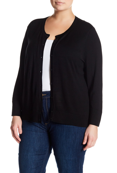 Imbracaminte Femei SUSINA Button-Down Knit Cardigan Plus Size BLACK