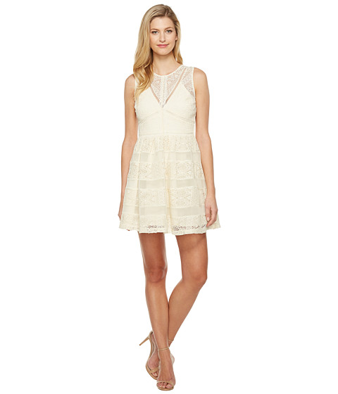 Imbracaminte Femei Adelyn Rae Marissa Woven Lace Fit and Flare Ivory