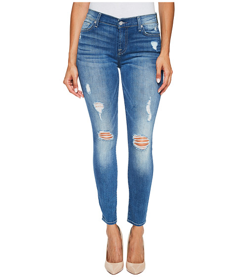 Imbracaminte Femei 7 For All Mankind Ankle Skinny Jeans w Destroy in Radient Pier Radient Pier