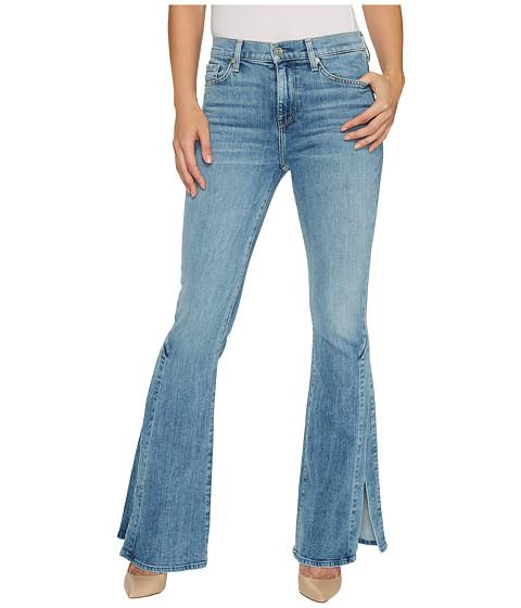 Imbracaminte Femei 7 For All Mankind Ali Jeans w Side Seam Split in Gold Coast Waves Gold Coast Waves