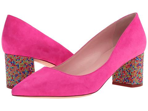 Incaltaminte Femei Kate Spade New York Milan Pink Swirl Kid SuedeMulticolor Stone