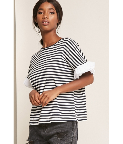 Imbracaminte Femei Forever21 Striped Dolman Sleeve Top NAVYWHITE