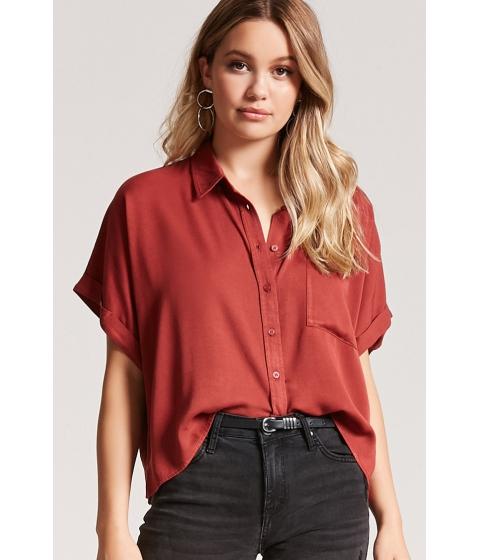 Imbracaminte Femei Forever21 Boxy Pocket Shirt RUST