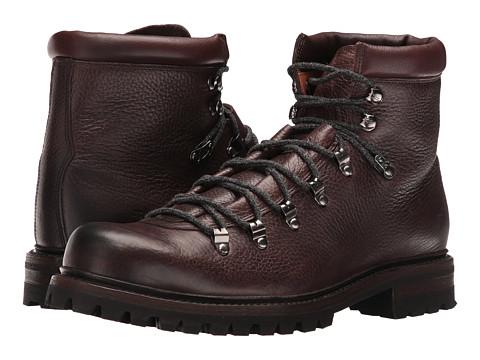 Incaltaminte Barbati Frye Wyoming Hiker Dark Brown WP Waxed Pebbled LeatherSoft Vintage Leather