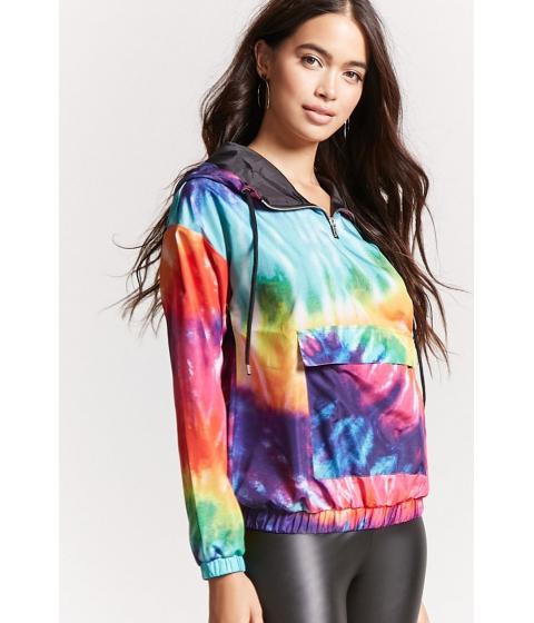 Imbracaminte Femei Forever21 Rainbow Tie-Dye Anorak PINKGREEN