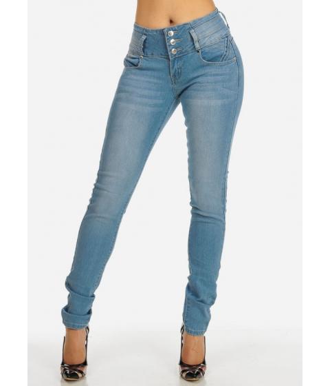 Imbracaminte Femei CheapChic Light Wash Brazilian Style Mid-Rise Skinny Jeans Multicolor