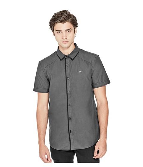 Imbracaminte Barbati GUESS Oak Thatched Shirt jet black