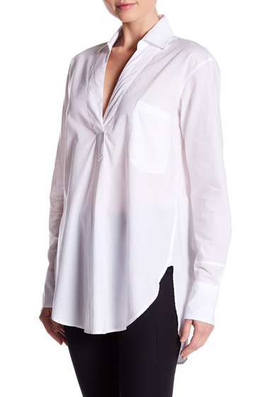 Imbracaminte Femei Helmut Lang Long Sleeve Pocket Tunic WHITE