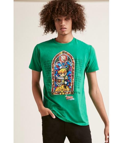 Imbracaminte Barbati Forever21 Zelda Graphic Tee GREEN