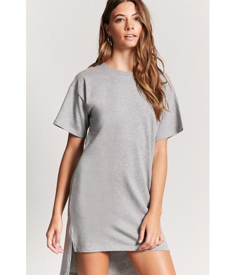 Imbracaminte Femei Forever21 High-Low T-Shirt Midi Dress HEATHER GREY