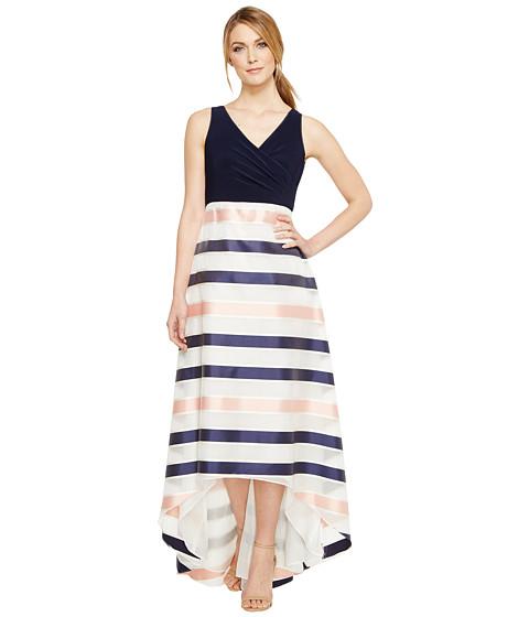 Imbracaminte Femei Adrianna Papell Jersey Organza Stripe Dress NavyIvoryPink