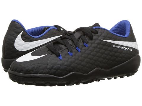 Incaltaminte Baieti Nike Hypervenom Phinish II AF Soccer (Little KidBig Kid) BlackWhiteDark Grey