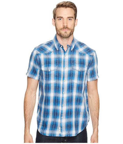 Imbracaminte Barbati Lucky Brand Palos Verdes Western Shirt Blue Plaid