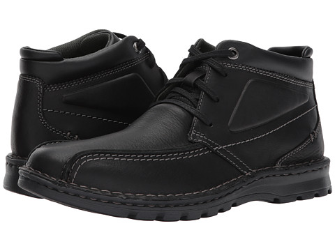 Incaltaminte Barbati Clarks Vanek Rise Black Oily Leather