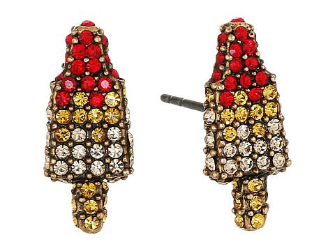 Accesorii Femei Marc Jacobs Rocket Lolli Studs Earrings Antique Gold