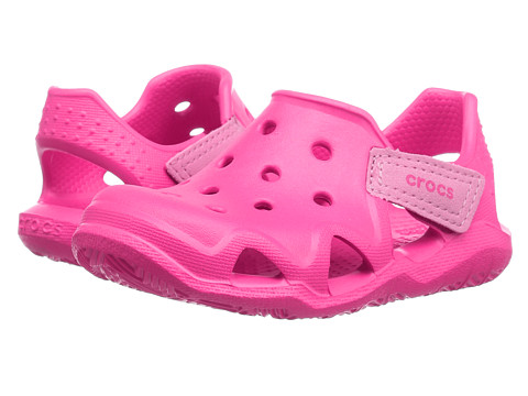 Incaltaminte Fete Crocs Swiftwater Wave (ToddlerLittle Kid) Neon Magenta