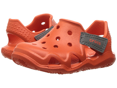 Incaltaminte Fete Crocs Swiftwater Wave (ToddlerLittle Kid) Tangerine