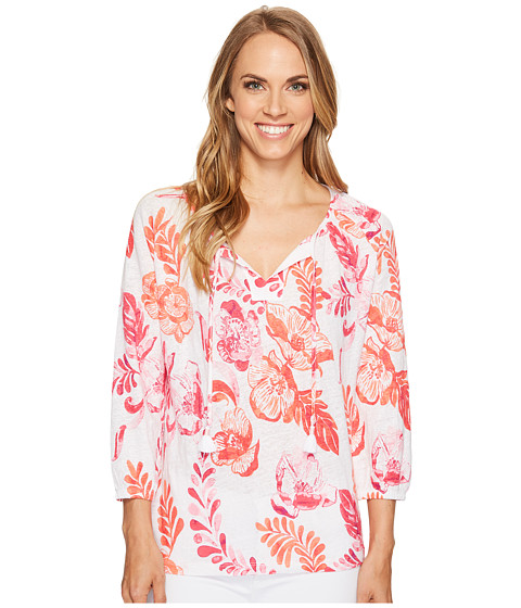 Imbracaminte Femei Tommy Bahama Florals Falling 34 Sleeve Top Raspberry Sorbet