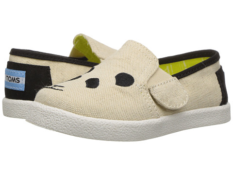 Incaltaminte Fete TOMS Tai Wildaid Pandas (InfantToddlerLittle Kid) Panda Embroidered