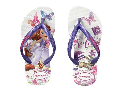 Incaltaminte Fete Havaianas Slim Princess Sofia Flip Flops (ToddlerLittle KidBig Kid) White