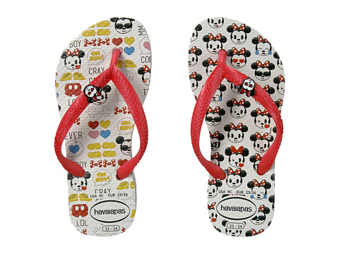 Incaltaminte Fete Havaianas Slim Disney Cool Flip Flops (ToddlerLittle KidBig Kid) WhiteRuby Red