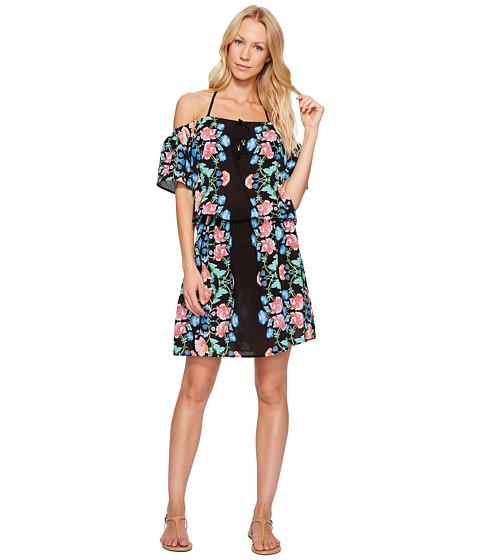 Imbracaminte Femei Nanette Lepore Damask Floral Off the Shoulder Short Dress Cover-Up Multi