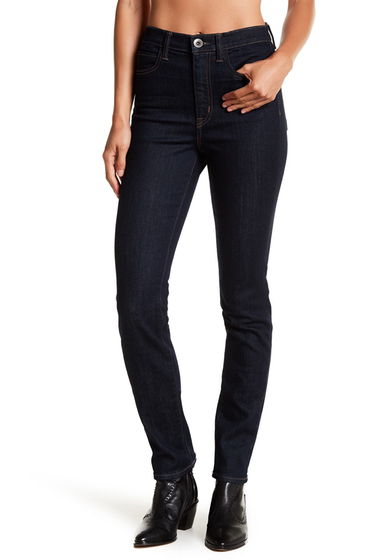 Imbracaminte Femei Helmut Lang High Rise Slim Fit Jeans DARK BLUE