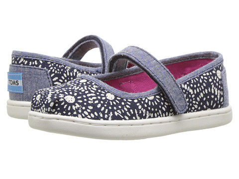 Incaltaminte Fete TOMS Mary Jane Flat (InfantToddlerLittle Kid) Navy Shibori Dots