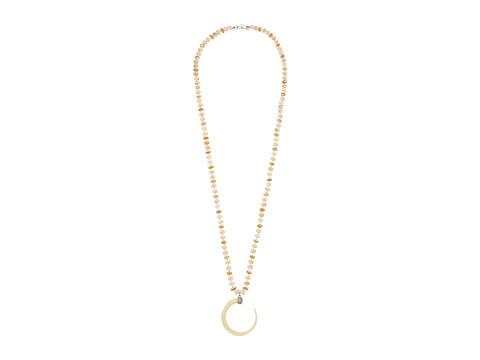 Bijuterii Femei LAUREN Ralph Lauren Silver and Bone 36quot Horn Pendant Necklace SilverMulti