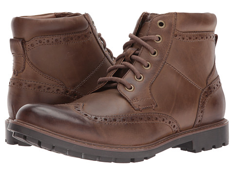 Incaltaminte Barbati Clarks Curington Rise Brown Leather