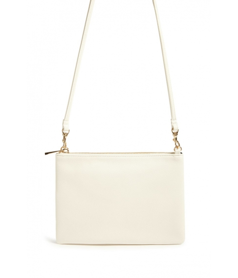 Genti Femei Forever21 Faux Leather Crossbody Bag CREAM