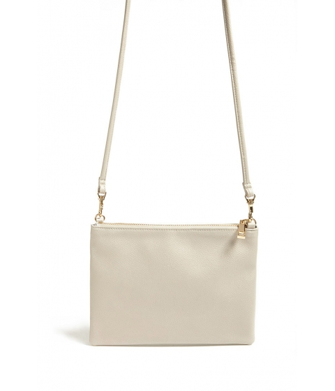 Genti Femei Forever21 Faux Leather Crossbody Bag GREY