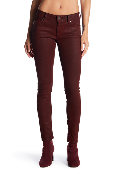 Imbracaminte Femei Miss Me Coated Mid Rise Skinny Jeans DEEP RED