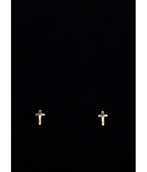 Bijuterii Femei CheapChic Cross To Wear Stud Earrings Gold